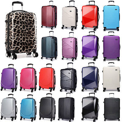 20'' Cabin Luggage 4 Wheel Spinner Suitcase Lightweight Trolley Case Hard Shell