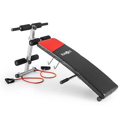 Ab Trainer Crunches Foldable Strength Training Bench Compact Home Gym Fitness