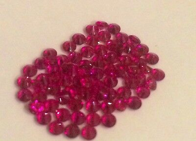 2mm Round Cut Loose Lab Created Ruby 20pcs