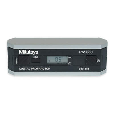 MITUTOYO Machined Aluminum Frame Digital Protractor,6in, 950-317