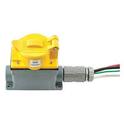 HUBBELL WIRING DEVICE-K TW Prewired Receptacle,125/250V,CS6369,Ylw, SR50, Yellow