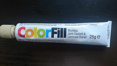 Unika ColorFill Worktop Joint Sealer Compound Laminate Repair CF075 SANDSTONE