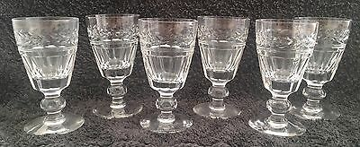 "Set of 6 Stuart Crystal Arundel 4 1/8"" Sherry Glasses With Original Box."