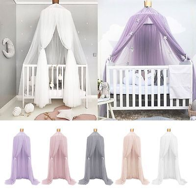 Kids Baby Bed Canopy Netting Bedcover Mosquito Net Curtain Bedding Dome Tent