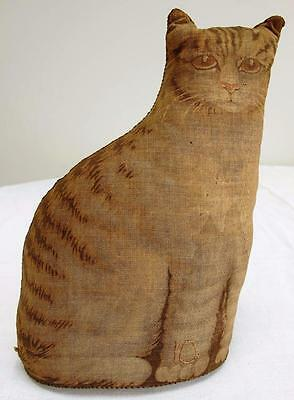 "Antique Victorian Arnold Print Works Fabric Soft Toy - Tabby Cat  - 6½"" - c1892"
