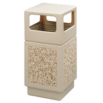 SAFCO Trash Can,38 gal.,Tan,Plastic, 9472TN