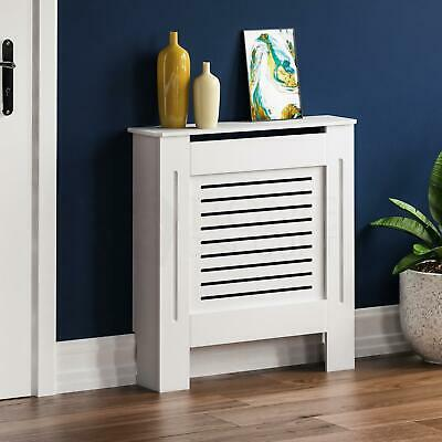 MILTON RADIATOR COVER Small White MDF Modern Grill Guard Cover Shelf