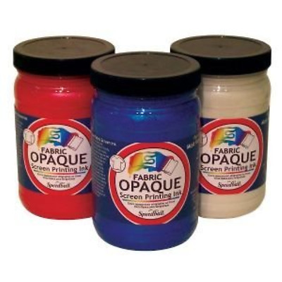 """Opaque Fabric Screen Printing Ink Size: 3.88"""" x 3.88"""", Colour: Silver"""
