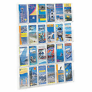 SAFCO Pamphlet Display,Clear, 5601CL, Clear