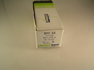 Littelfuse 312006 3AG 6A 32mm x 6.3mm Quick Blow Fast Blow Fuses OLB017b