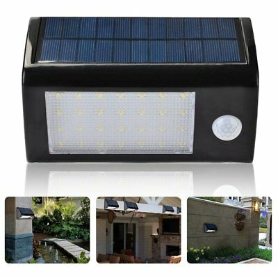 Solar Powered Lamp 28 LED PIR Motion Sensor Outdoor Garden Security Wall Lights