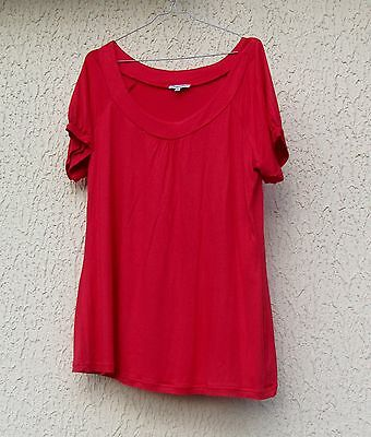 Tee shirt femme rouge, taille 46/48