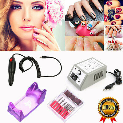 Pro Ponceuse Electrique Lime A Ongles Manucure Pedicure Nail Art Tip Machine Un