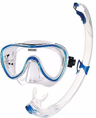 SEAC - Silicone Mask and Snorkel Set Combo Package - Blue