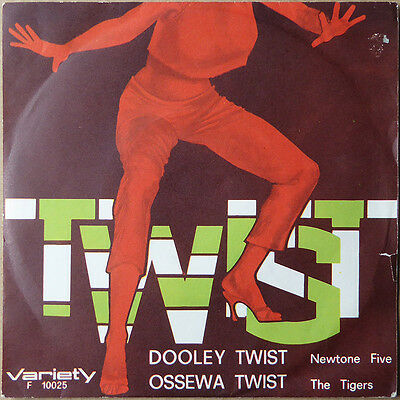 "7"" The Newtone Five - Doodley Twist / The Tigers - Ossewa Twist - RARE Italy"