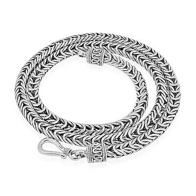 DESIGNER BYZANTINE Chain Solid 925 Sterling Silver  20 Inch 58 gm 5 mm