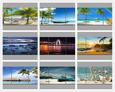 "16x16"" Art Printed Painting on Canvas-Seaside-3Parts Home Wall Decor""no frame"""