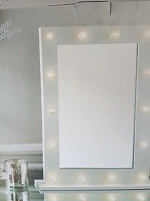 F9 White HOLLYWOOD 14 LED light Vanity MIRROR bedroom  dressing Table 50x40