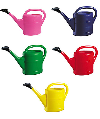 Plastic Garden Watering Can 5 Litre Red Blue Pink Green Yellow  Vibrant