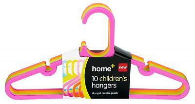 10 Childrens Small Clothes Hangers Asst Colours Girls Or Boys