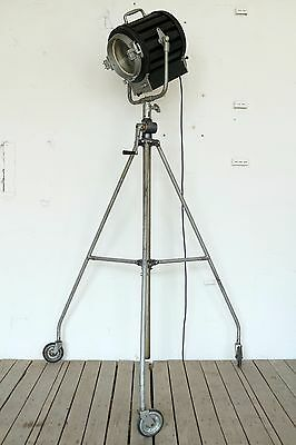 Vintage Industrial Dimmable Cinema Theatre Spot Floor Tripod Light Lamp