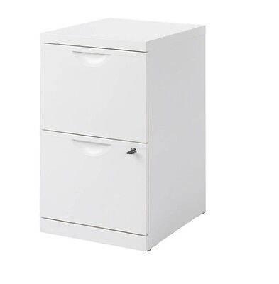 Ikea ERIK A4 File Metal Cabinet,White Colour,2 Drawers,Filing Cabinet + Lock,New