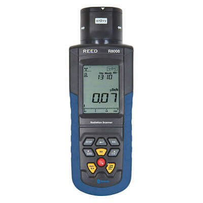 REED INSTRUMENTS Radiation Meter,LCD,1 Year Warranty, R8008