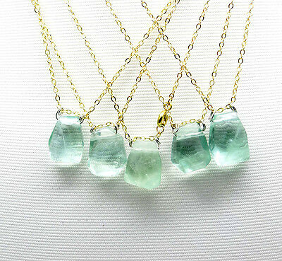 1pc Simple 18 inch clear green flourite healing bead pendant necklace gift