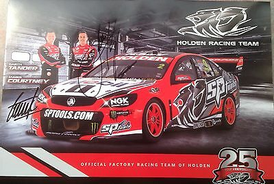 Signed 25 Years Of Holden Racing Team Poster Garth Tander And Courtney Commodore