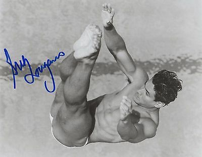 Original Hand Signed 8 x 10 Photo By Greg Louganis Olympic Diving Champion