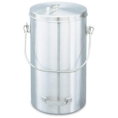 VOLLRATH Stainless Steel Covered Ice Cream Pail, 20 qt, 59200, Silver