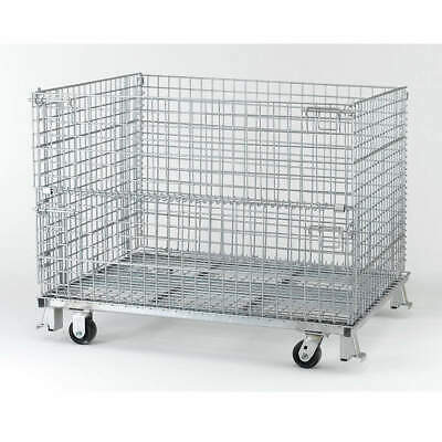 NASHVIL Steel Wire Mesh Collapsible Container,48 In W,Silver, C404824S4C, Silver