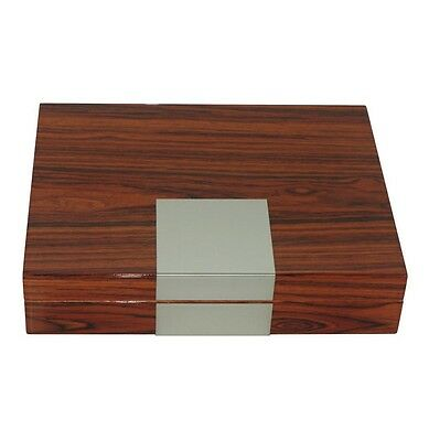 Luxury 12 count cigar humidor tobacco box glossy rosewood Humidifier Hygrometer