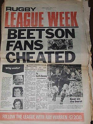 RLW Rugby league week 1974 No.2 - Beetson