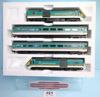 Lima 'oo' Gauge Hst Midland Mainline Class 43 Train Pack Inc Coaches Boxed #491