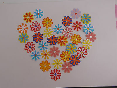 25 x handmade double layered 3D assorted paper flowers art craft cardmaking