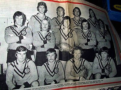 RLW Rugby league week 1974 No.14 June 29 - Balmain Tigers 1974 Team Photo!