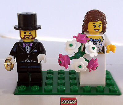 Lego minifigure BRIDE & GROOM WEDDING from 40165 -- BRAND NEW & FREE POSTAGE
