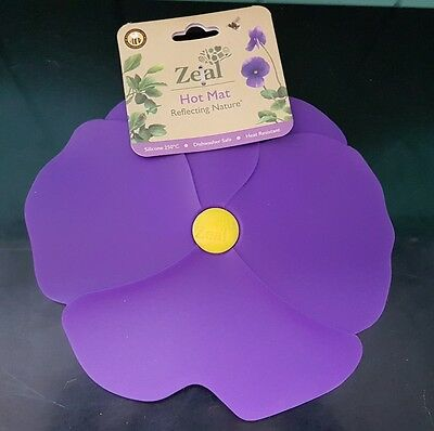 Zeal Pansy Hot Mat Trivet pot stand - Purple