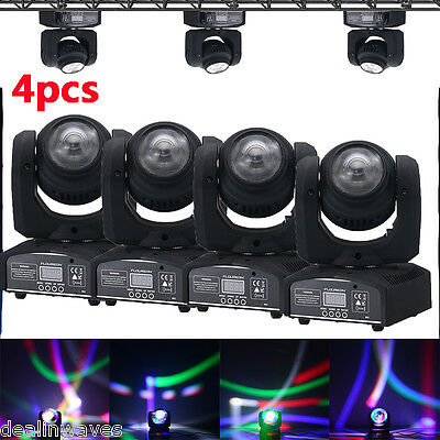 4x 20W Cree RGBW LED Moving Head Double Face Beam Stage Light DMX Party DJ Disco