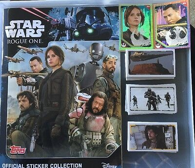 Star Wars Rogue One Sticker Set Of 200 Loose Stickers + Empty Album Topps Uk