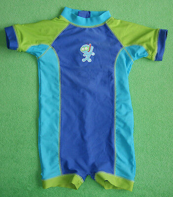 Blue bambini green swimwear swimsuit with fish for boy 18-24 months 92 cm