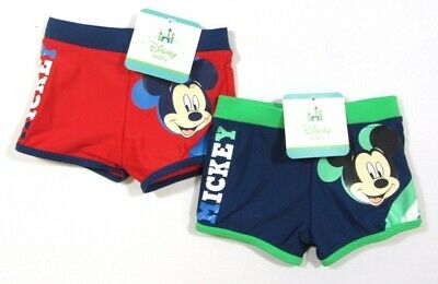 Babies Boys Disney Baby Mickey Mouse Swim Swimming Trunks Shorts Red Green 0-23M