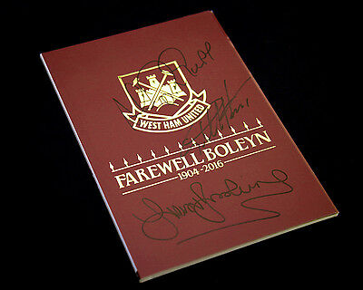 *New* Harry Redknapp, Geoff Hurst And Trevor Brooking Signed West Ham Programme