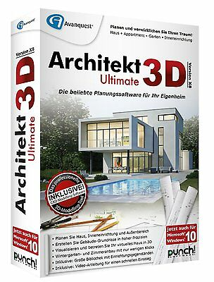 Architekt 3D Ultimate X8 Win ESD / Download Haus Appartment Garten 18 Punch!
