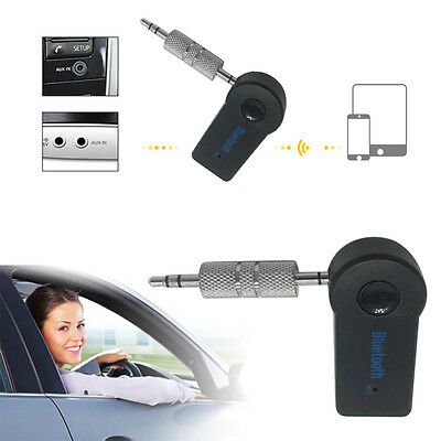 Bluetooth V3.0 Wireless Stereo Audio Music Receiver 3.5mm Handsfree Car AUX AK