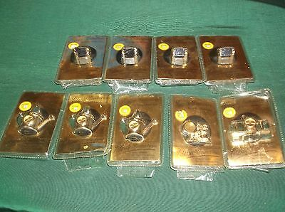 Mixed Lot of Miniature Classic Collection Quartz Movement Novelty Clocks