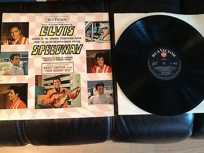 ELVIS PRESLEY . SPEEDWAY 1968 . Black label red dot RCA . Film Soundtrack .