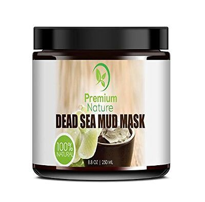 Dead Sea Mud Mask for Face and Body - 236 ml Melts Cellulite Treats Acne Strech