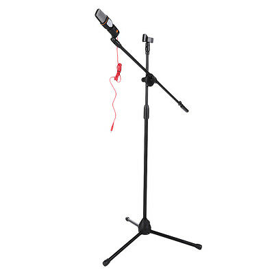 Adjustable Professional High Quality Boom Microphone Mic Stand Holder 1 Clip NR
